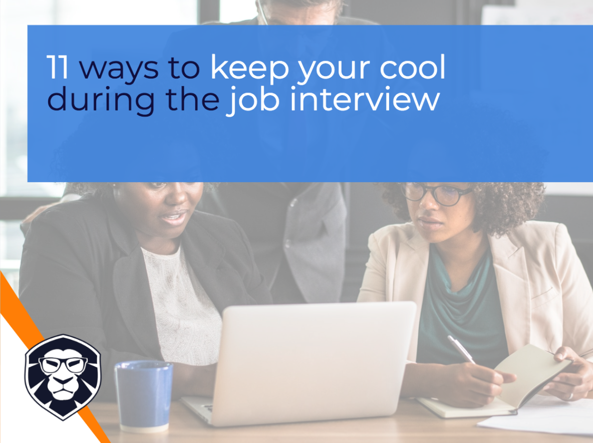 11 ways to keep your cool during the job interview - Blog Gamechanger Luxembourg