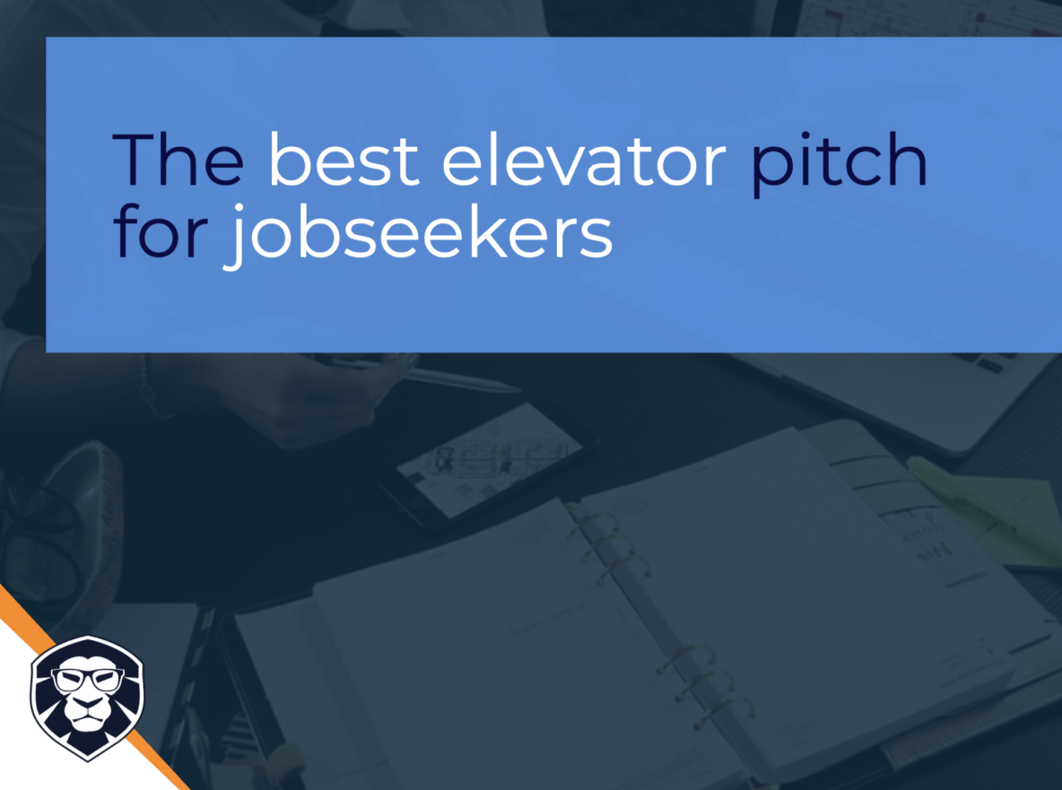 The best elevator pitch for jobseekers - blog Gamechanger Luxembourg